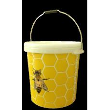 Plastové vedro na 40kg medu s potlačou